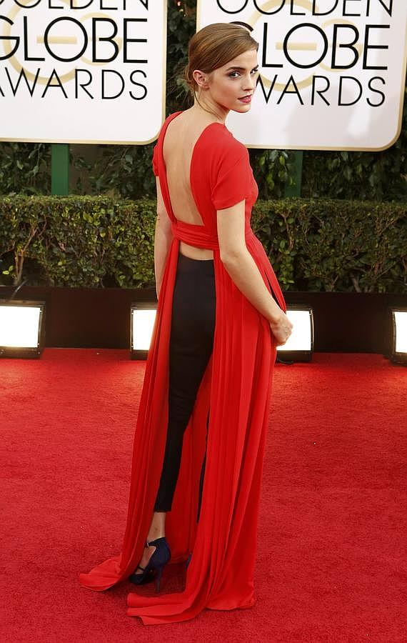 Actress Emma Watson arrives at the 71st annual Golden Globe Awards in Beverly Hills, California January 12, 2014. REUTERS/Mario Anzuoni (UNITED STATES - Tags: ENTERTAINMENT) (GOLDENGLOBES-ARRIVALS)