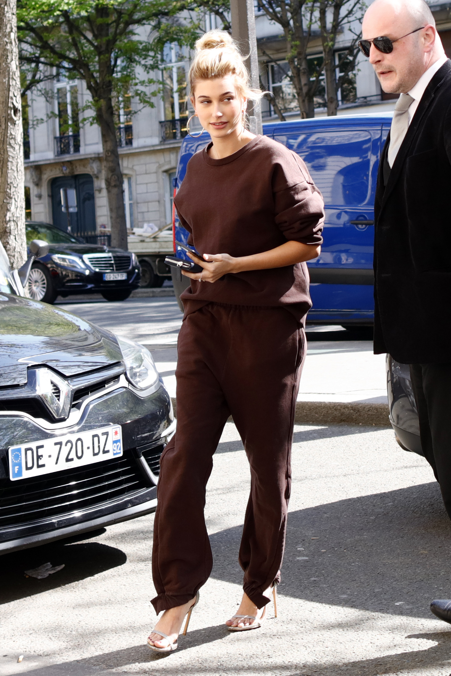 Hailey Baldwin out and about in Paris. Paris, France 27 Mar 2017
